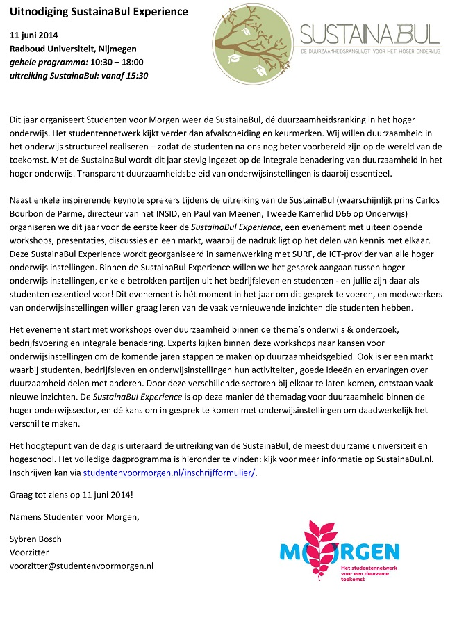 Uitnodiging SustainaBul Studentennetwerk-1