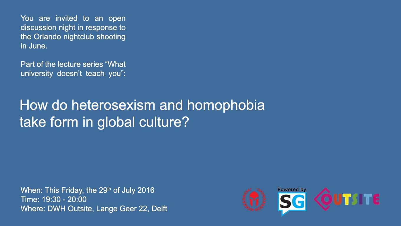 homophobia debate poster